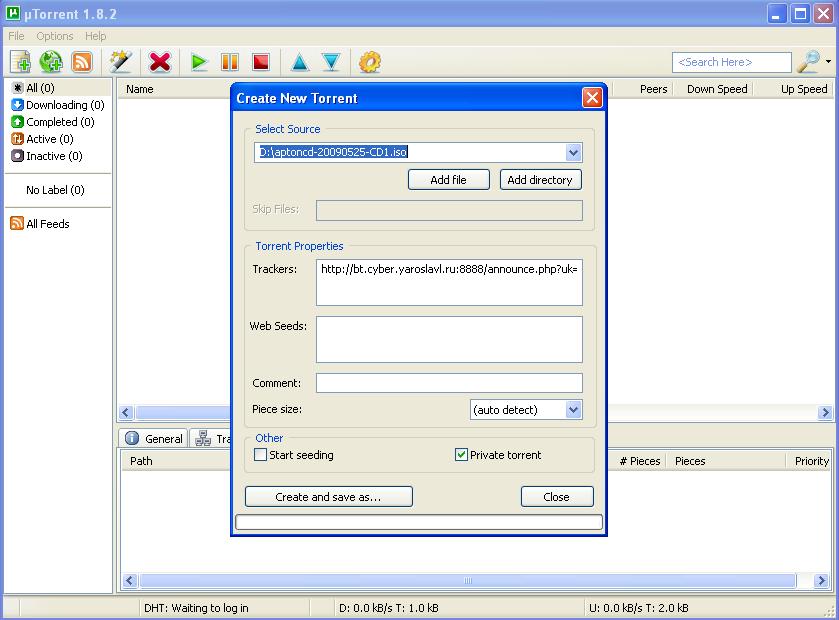2326 (high cpu load when adding unregistered torrents) � Transmission