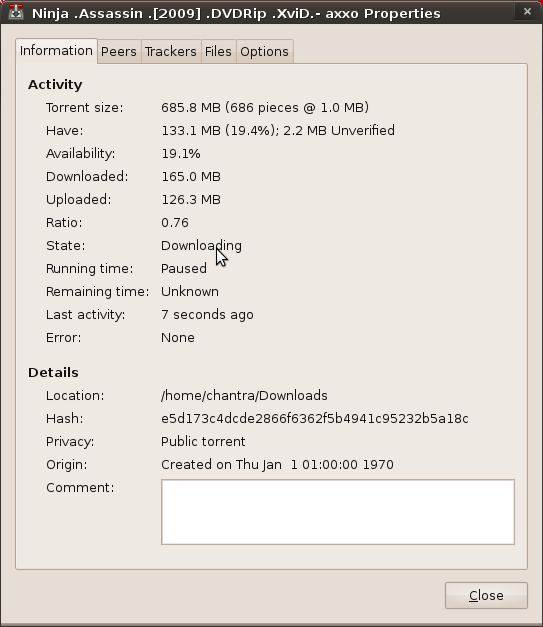 2645 ([patch] add torrent availability to Properties